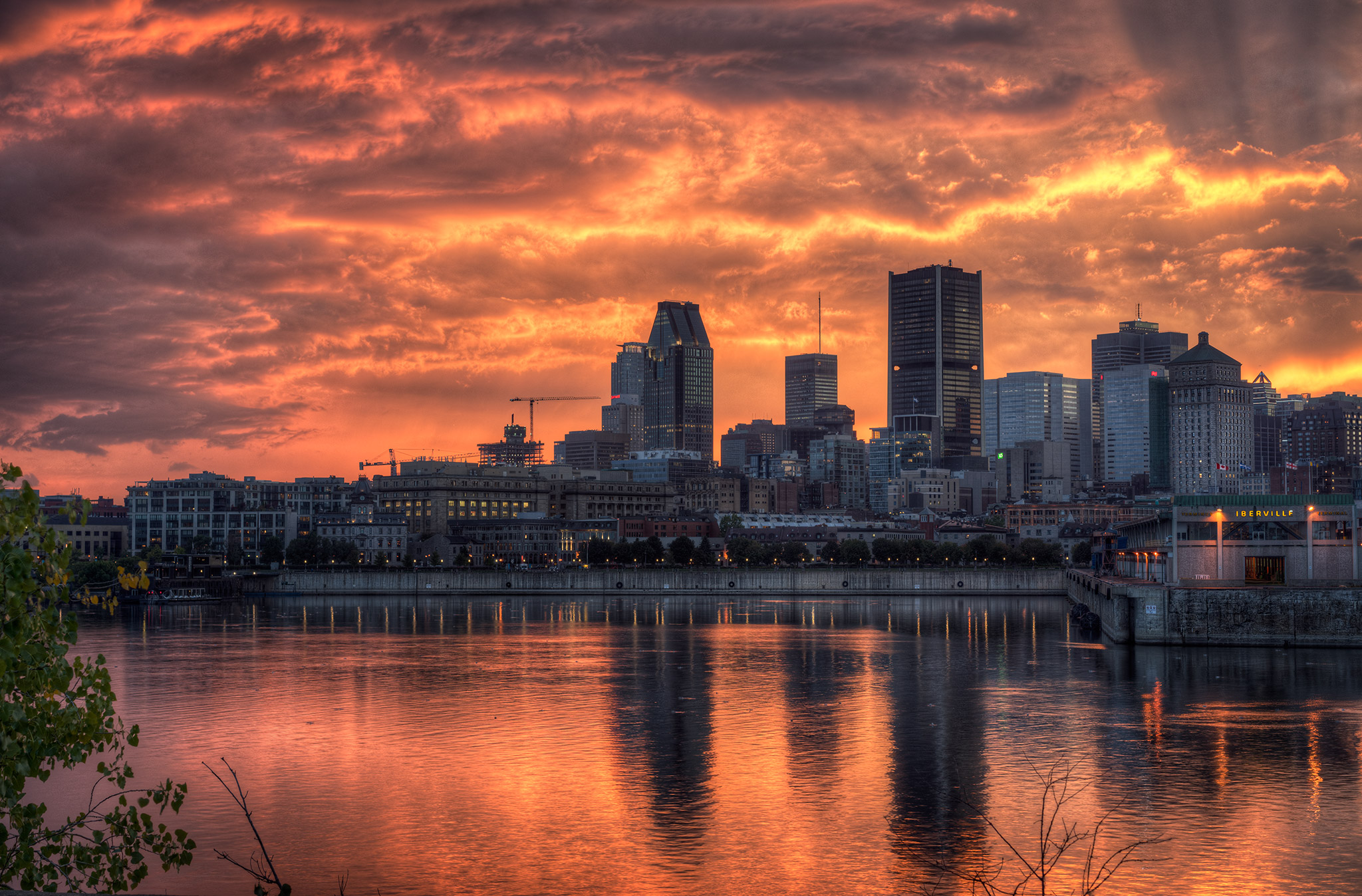 Fiery Skyline Fine Art photography