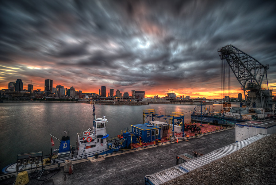 Montreal Port View Fine Art photography